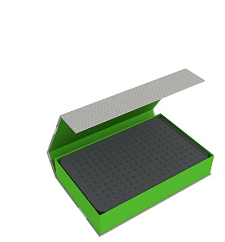 Feldherr Magnetic Box Green Compatible with 12 GW Miniatures with 40 mm Base