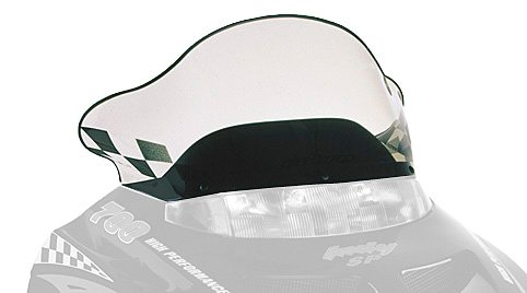 PowerMadd 11230 Cobra Windshield for Polaris Gen II - Tint with black checkers - Mid height