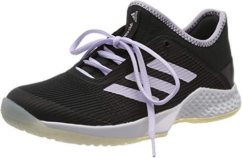 adidas Adizero Club W, Chaussure de Tennis Femme, Core Black/Purple Tint/FTWR White, 40 2/3 EU