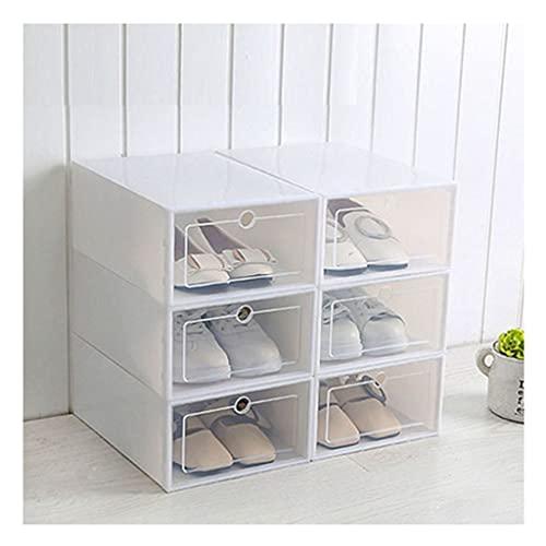NHDY Cajas de Zapatos Engrosada Caja de cajón Transparente Cajas de Zapatos de plástico Caja apilable Organizador de Zapatos Shoebox Caja de Almacenamiento de Cajas de Polvo 0717 (Color : D)