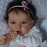 GLXLSBZ Muñeca Reborn muñecas realistas de 23 Pulgadas 58 cm muñecas nutritivas Juguete Completo de Silicona para bebé Reborn Ojos Marrones muñeca Rebirth de 58 cm Ojos Marrones