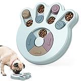 Pawaboo Juguete para Perros, Dispensador Interactivo de Golosinas, Alimentador Lento de Rompecabezas para Cachorros - Azul