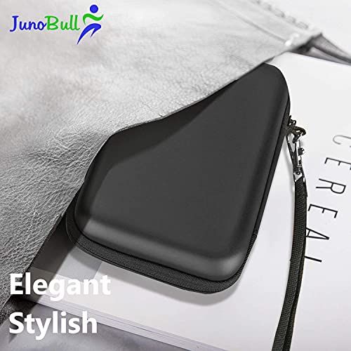 JunoBull EVA Shockproof, Waterproof, Portable Hard Disk Case Enclosure Cover Bag Pouch -for External Hard Drive, Power Bank, Cables, Laptop Accessories -with Dual Buffer Layer -Black/Grey
