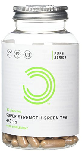 BULK POWDERS Super Strength Green Tea Capsules, 450 mg, Pack of 90