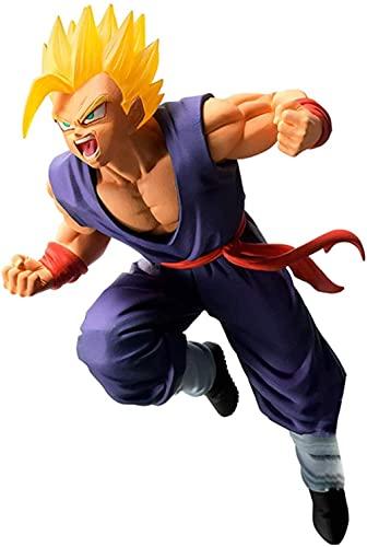 HGJINFANF Imágenes vívidas y excelente artesanía Dragon Ball Super Saiyan Figura de acción coleccionable Modelo Estatua Son Goku Anime Adornos decorativos Juguetes clásicos Adornos PVC Material