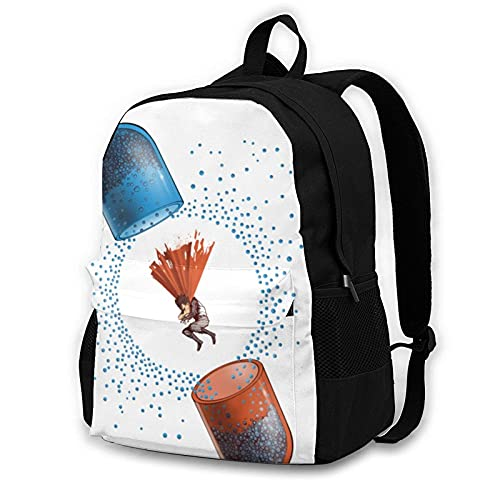 Backpack Powerfull Pills Akira School Bags Student Bookbag Outdoor Hiking...