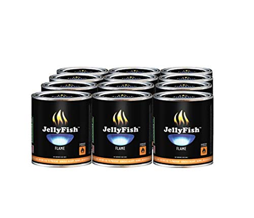JellyFish Flame Real, 12 Cans (13 oz) Fireplace Gel Fuel Made in USA