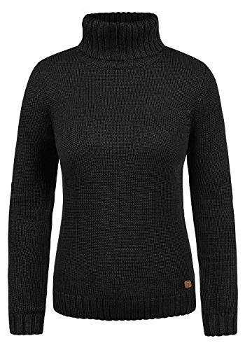 DESIRES Pia Damen Rollkragenpullover Pullover mit Rollkragen, Größe:S, Farbe:Black (9000)