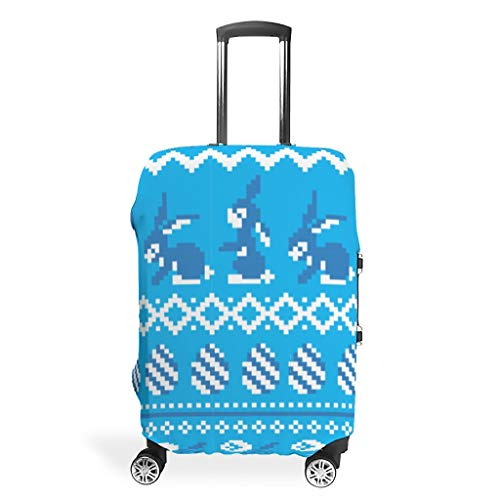 Toomjie Luggage case Cover Fashion Spandex Baggage Suitcase Protector Dust-Proof Anti-Thief Baggage Protective Case Easter Rabbit Design White XL(30-32 inch)
