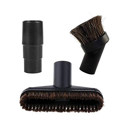 Kit de accesorios surtido, boquilla de cepillo de aspiradora, piezas de repuesto de crin de caballo con adaptador de 32/35 mm (color: negro) (color: negro)