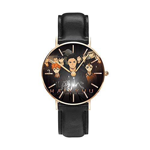 Anime Haikyu!! Relojes de Pulsera la Moda Reloj de Estudiante Niño Niña Reloj de Cuarzo Neutro Reloj Impermeable Pulsera de Cuero de Regalo Haikyu!! Regalo de los Fans Sorteo de Halloween-A6