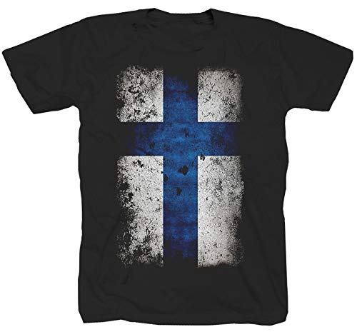 Shirtzshop - Camiseta de manga corta, diseño de Noruega, color negro Negro XL