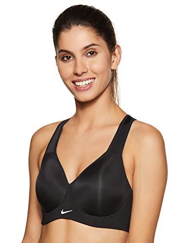 Nike New Pro Rival Bra Brassière de Sport pour Femme, New Pro Rival Bra, Noir (Black/Black/White)