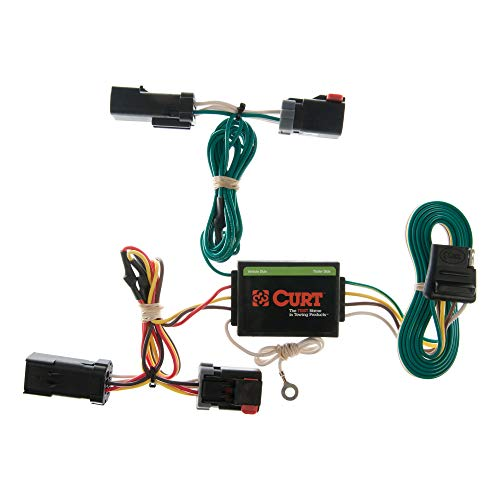 CURT 55382 Vehicle-Side Custom 4-Pin Trailer Wiring Harness for Select Jeep Liberty