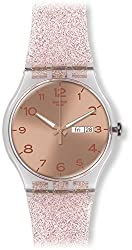 This image shows Swatch Pink Glistar which is one of the best watches for teenagers