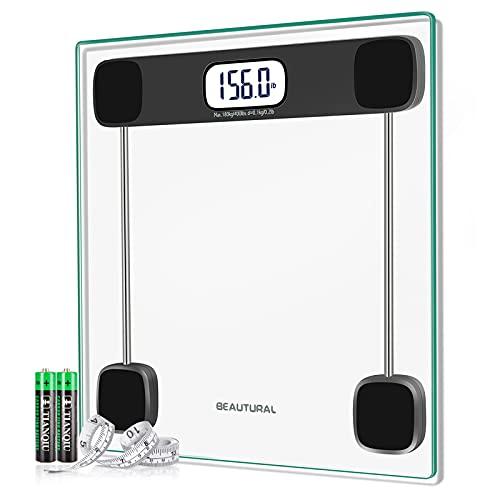 BEAUTURAL Digital Body Weight Bathroom Scale Precision Weighing Bath...