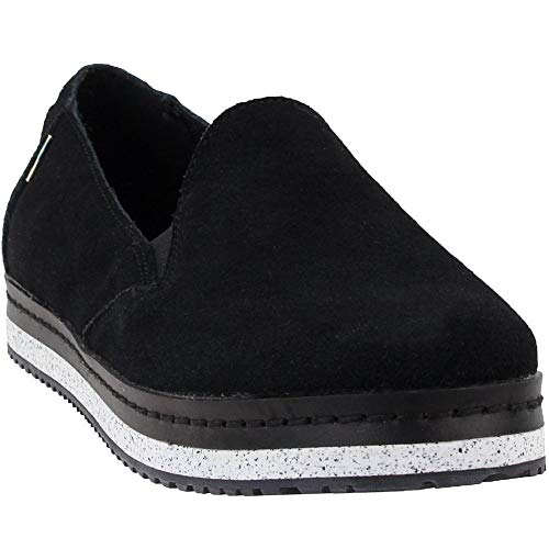 TOMS Damen Women Palma Leather Wrap Espadrilles, Schwarz (Black 000), 38.5 EU