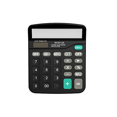 EULANT Calculadora Básica 12 Dígitos, Energía Solar Calculators Negro