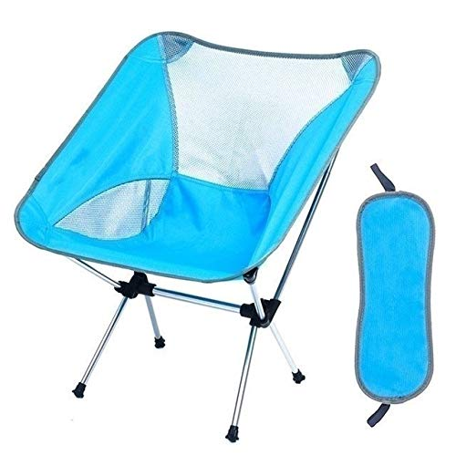 YAOHONG Sun cushions, portable chairs, patio cushions, indoor and outdoor garden terrace, folding deck chairs Comfortable recliner (Color : Blue)