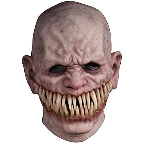 KiKiYe Máscara masculina de Halloween Creepy Stalker com dentes grandes, máscaras faciais, máscaras de anime para cosplay, máscaras de carnaval