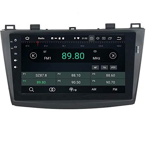 ROADYAKO Double Din Android 8.1 pour Mazda 3 2010 2011 2012 2013 Autoradio Stéréo avec Navigation GPS Lien WiFi Lien RDS RDS FM AM Bluetooth AUX Multimédia Audio Vidéo