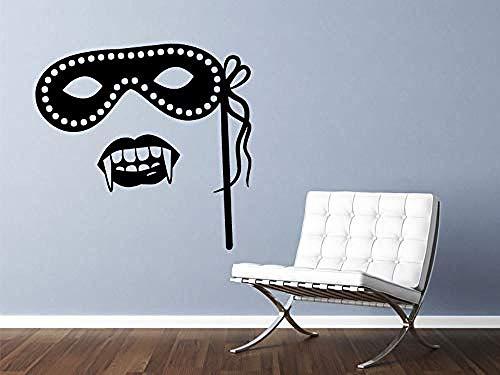 Wandaufkleber Neue Designs Wohnkultur Wohnzimmer Maskerade Maske und Vampirzähne Wasserdichte Tapete Vinyl 56 * 56 Cm