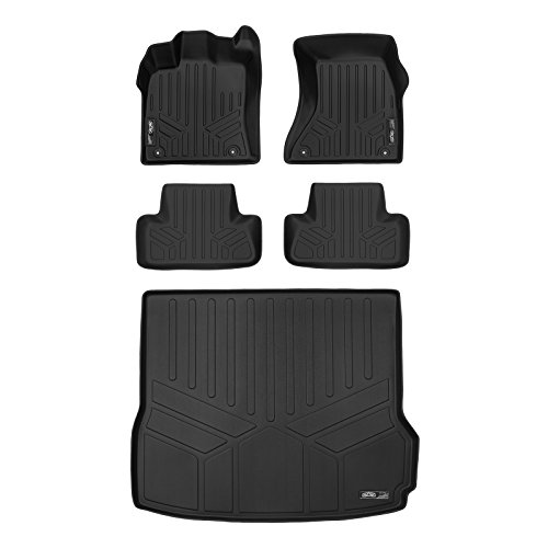 MAXLINER Floor Mats 2 Rows and Cargo Liner Set Black for 2009-2017 Audi Q5 Non Hybrid / 2014-2017 SQ5