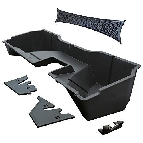 Tyger Auto Underseat Cargo Box for 2014-2018 Chevrolet Silverado/GMC Sierra 1500; 2015-2019 2500 HD 3500 HD Double Cab | Black Textured Rear Under Seat Storage Organizer | TG-CB5C2248