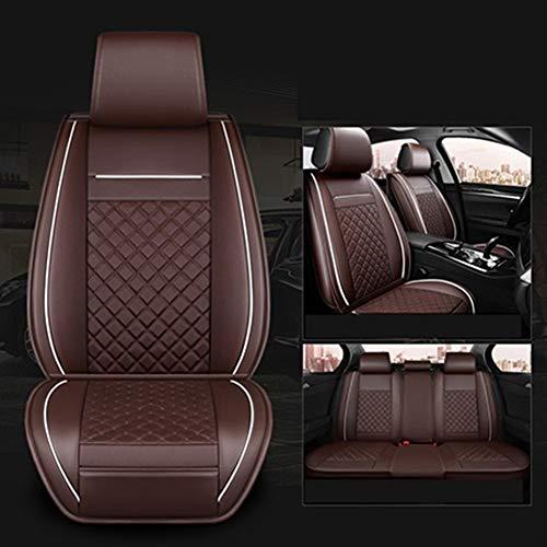 MMI-LX Transpirable PU Asientos de Piel de coches fundas de asiento de auto Protectores del amortiguador del sistema completo (Air Bag Compatible) Universal Fit for Dacia Duster Dokker Daewoo Lanos Ma