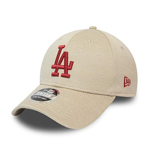New Era Los Angeles Dodgers MLB Cap 9forty Verstellbar Snapback Baseball Kappe Beige Rot - One-Size
