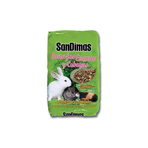 SanDimas - Alimento completo bilanciato per conigli nani e cobacee, 900 g, con vitamine e minerali