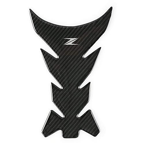 Motorrad Aufkleber Sticker for Kawasaki Z1000 Z900 Z800 Z750 Z650 100% Carbon-Faser-Produkte Motorrad-Zubehör Tank Pads Schutz Aufkleber Aufkleber (Color : Black)