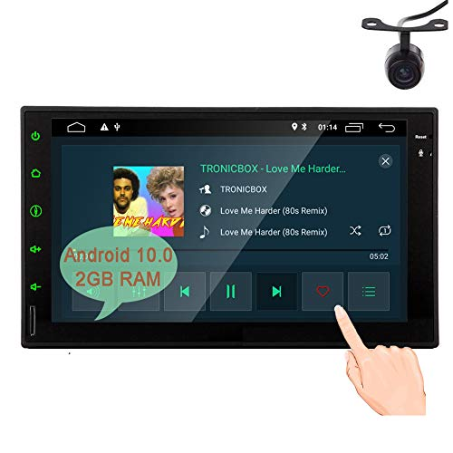 Android 10.0 Q Double Din Head Unit Car Stereo 7 inch Capa...