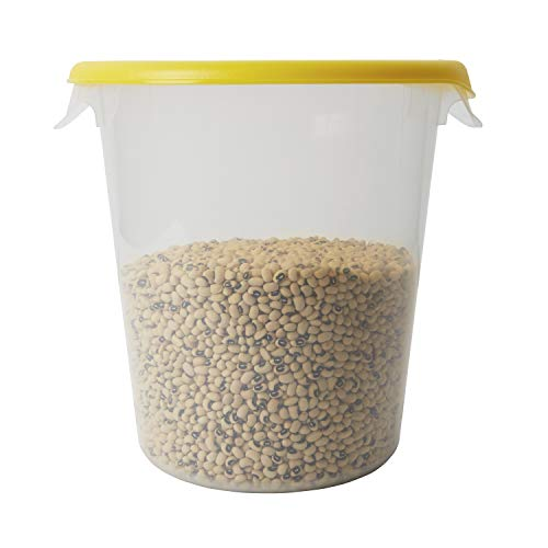 Rubbermaid Commercial Lid (Lid Only) for Round Food Storage Container, Fits 8 Qt. Containers, Yellow (FG572500YEL)