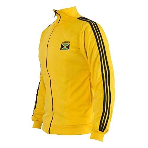 Flaga jamajska żółta kurtka Capoeira dzieci młodzież dres sweter top bluza