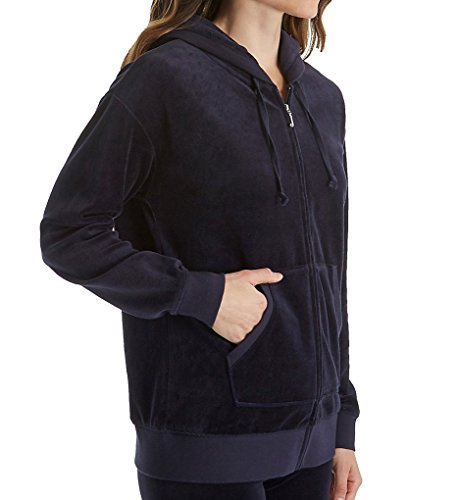 Juicy Couture Black Label Women's Velour Beachwood Jacket, Regal, XS