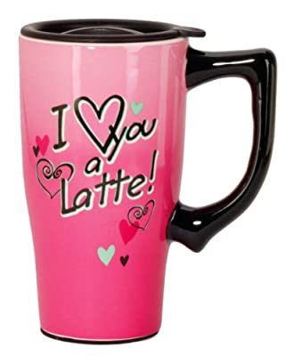 I Love You A Latte Porcelain To Go Cup