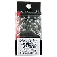 ジャズ 鯵ヘッド電撃 Rタイプ 0.5g #10 漁師パック