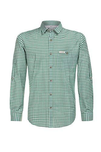 Stockerpoint Herren Campos3 Trachtenhemd, Grün (Dunkelgrün), Medium