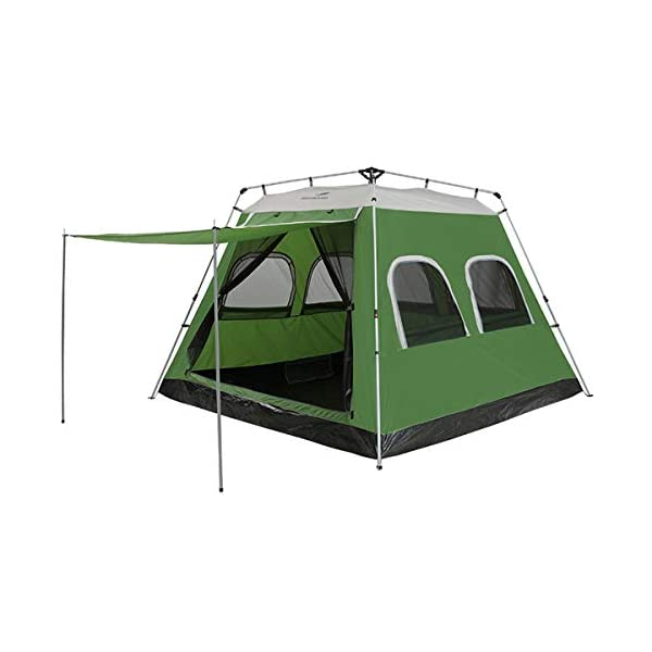 Qisan Pop Up tent 5-8 Person Automatic Instant Camping Tent Outdoor Quick Open Waterproof Family Tent 4 Season Backpacking Tent with Carrying Bag for Hiking Travel or Beach Green