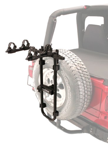 Hollywood Racks Bolt-On Spare Tire Rack, Black, 2 Bike
