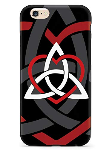 Inspired Cases - 3D Textured iPhone 6/6s Case - Rubber Bumper Cover - Protective Phone Case for Apple iPhone 6/6s - Celtic Sisters Knot - Red - Black