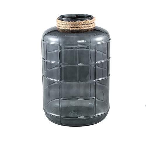 PTMD George Glass Grey Vase L