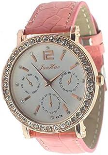 Fashion Leather watches,Ladies Women's Gilrs Dress Analog Gifts Quartz Hour Clock Wrist Watches