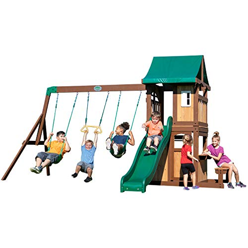 Backyard Discovery Lakewood Wooden Playset Swing Set