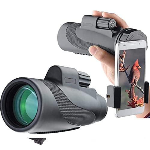 Playpen 12x50 HD Monocular Telescopio Mirador de observación de pájaro, poderoso Zoom de visión Nocturna Potente Impermeable y a Prueba de Polvo Ideal para observación de Aves Camping Camping