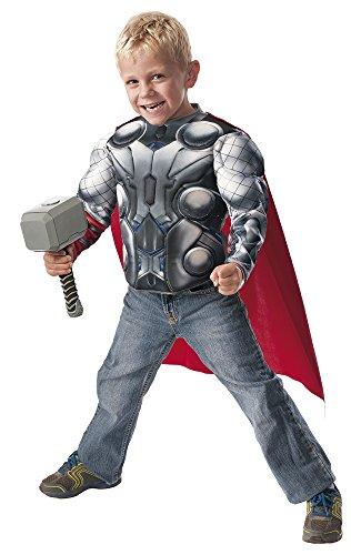 Avengers Disfraz infantil Thor, pecho y martillo, en caja, M (Rubie