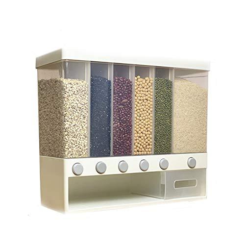 AKKY Set Cajas De Almacenaje para Cereales Y Harina,10Ldispensador De Cereales,Recipientes para Cereales Almacenamiento De Alimentos,Dispensador De Cereales Sin Bpa,para Harina,Café,Etc