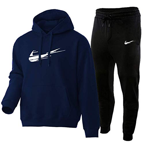HUPAI Chandal Hombre Completo, Pantalon Chandal Hombre Y Chandal Hombre, 3D Impreso Jordan Negro Fashion Sportswear Adecuado para Calzado Deportivo (s-3xl) (Blue Lake,S)