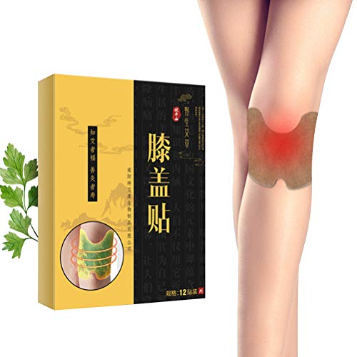 Fantastic Deal! AGAWA 12Pcs Wormwood Knee Plaster Stickers Extract Knee Joint Ache Pain Relieving Pa...